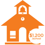 Sponsor a School : $1,200